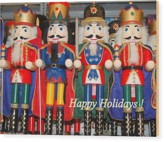 Nutcrackers Wood Print