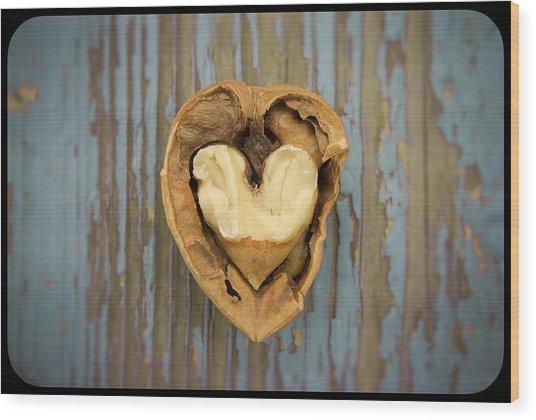 Nutty Love Affair Wood Print by Lea Seguin