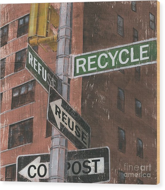 Nyc Broadway 1 Wood Print