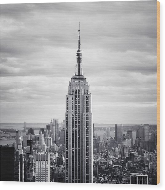 Nyc Empire Wood Print