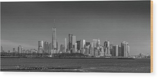 Nyc Skyline Wood Print