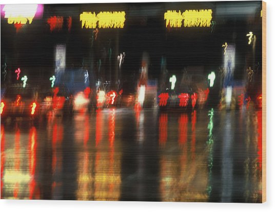 Nyc Toll Booth Wood Print by Brad Rickerby