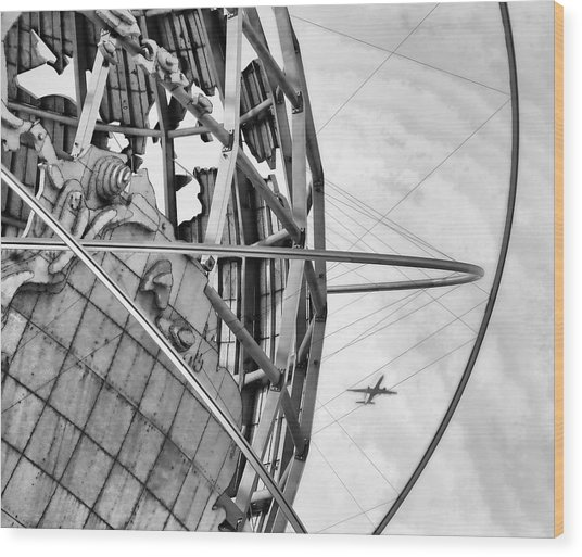 Nyc Worlds Fair 1964 Today Wood Print by Chuck Kuhn