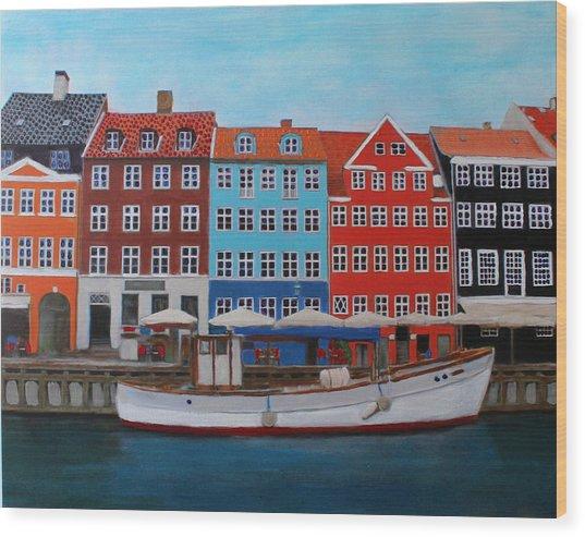 Nyhavn Copenhagen Wood Print