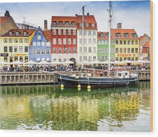 Nyhavn, Copenhagen Wood Print