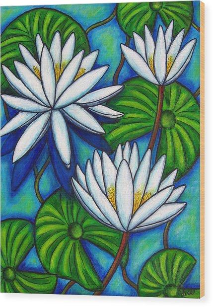 Nymphaea Blue Wood Print
