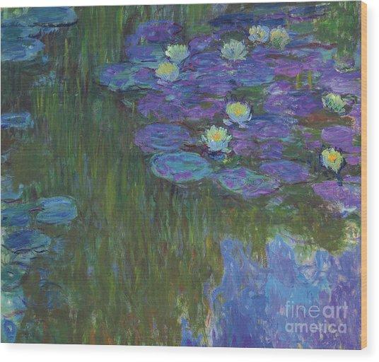 Nympheas En Fleur, 1914 To 1917  Wood Print