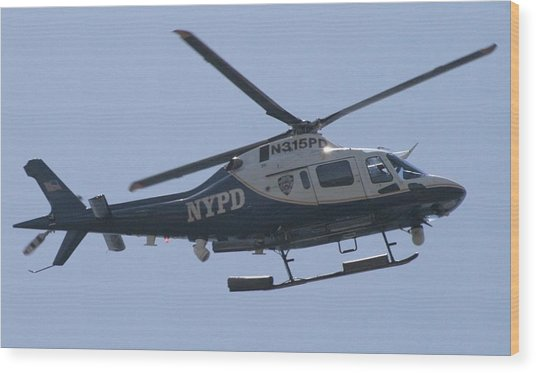 Nypd Aviation Unit Wood Print