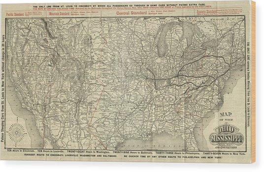 O And M Map Wood Print