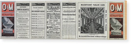 O And M Timetable Wood Print
