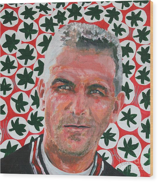 O H  Urban Meyer Portrait Wood Print