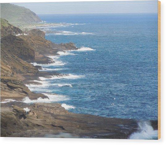 Oahu Coastline Wood Print
