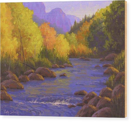 Oak Creek Color Show Wood Print