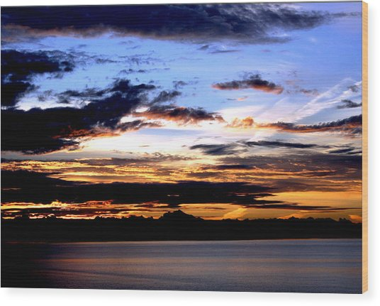 Oak Harbor Sunrise Sr 1002 Wood Print by Mary Gaines
