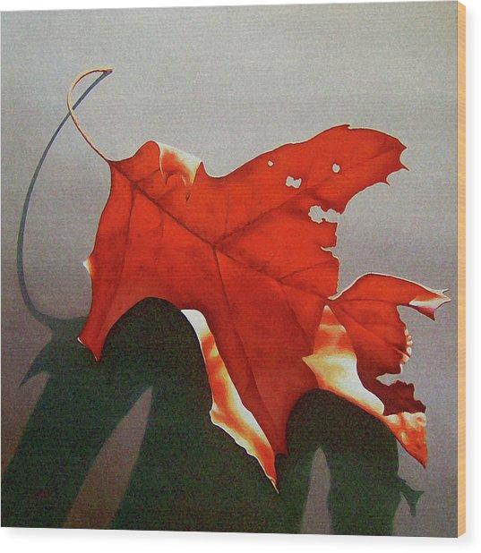 Oak Leaf 1 Wood Print