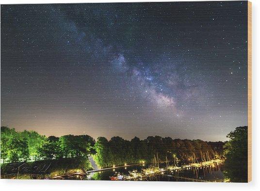 Oak Orchard Milky Way Wood Print
