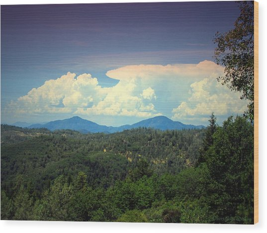 Oakrun Thunderstorm Wood Print