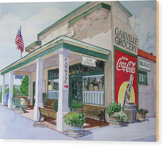 Oakville Grocery Wood Print