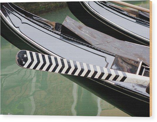 Oar Gondola Venice Wood Print