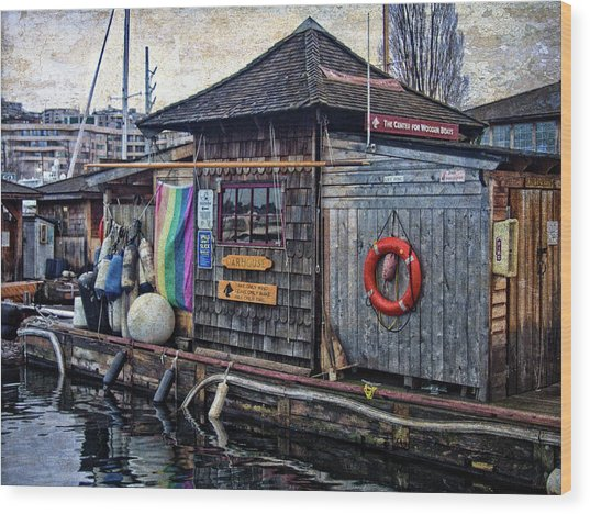 Wood Print featuring the photograph Oarhouse by Thom Zehrfeld