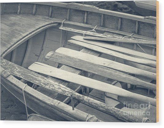 Oars Wood Print