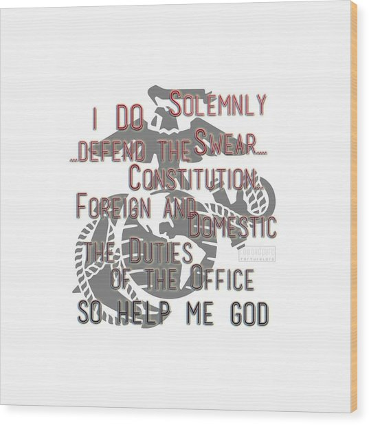 Wood Print featuring the mixed media Oath by TortureLord Art