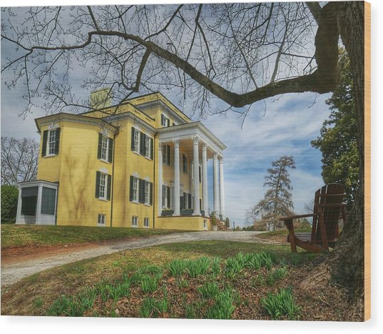 Wood Print featuring the photograph Oatlands Historic Home by Ryan Shapiro