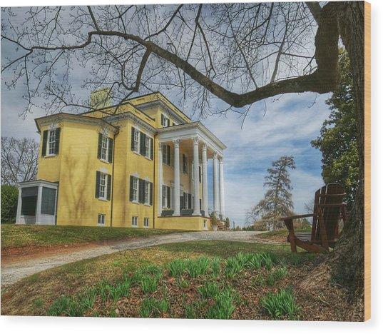 Oatlands Historic Home Wood Print