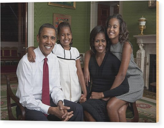 Obama Family Official Portrait By Annie Wood Print