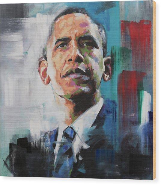 Obama Wood Print