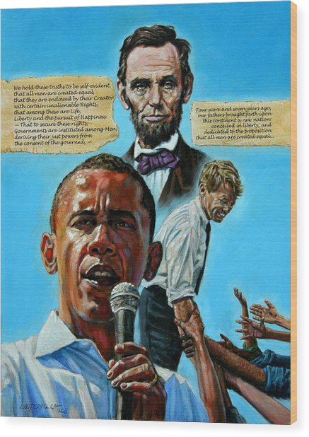 Obamas Heritage Wood Print