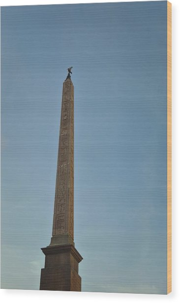 Obelisk Of Domitian Wood Print by JAMART Photography