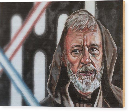 Obi-wan Kenobi's Last Stand Wood Print