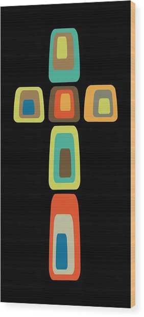 Oblong Cross Wood Print