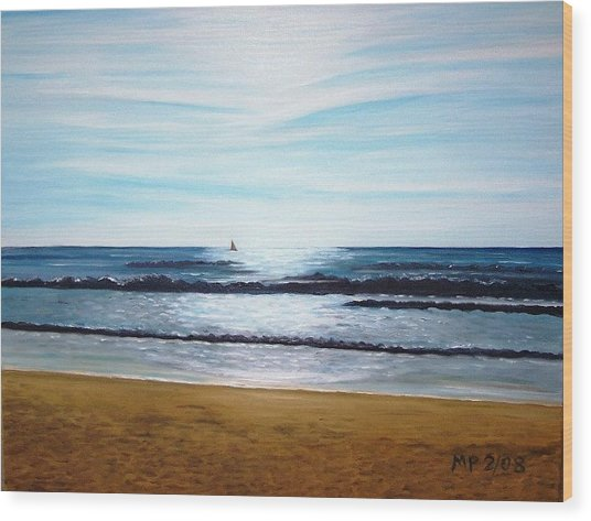 Ocean And Light Wood Print by Madeleine Prochazka