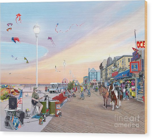 Ocean City Maryland Wood Print