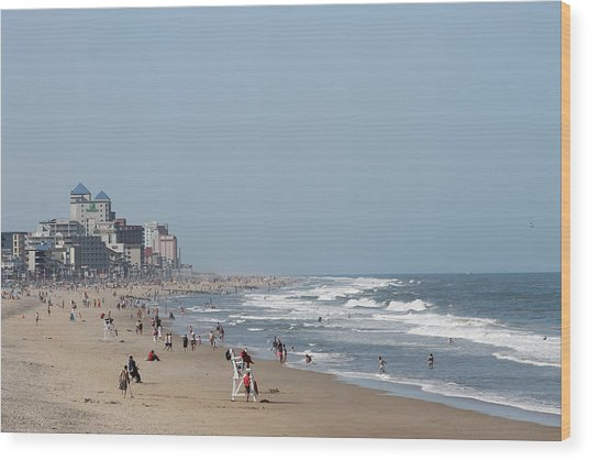 Ocean City Maryland Beach Wood Print