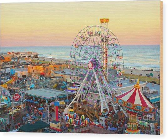 Ocean City New Jersey Boardwalk And Music Pier Wood Print