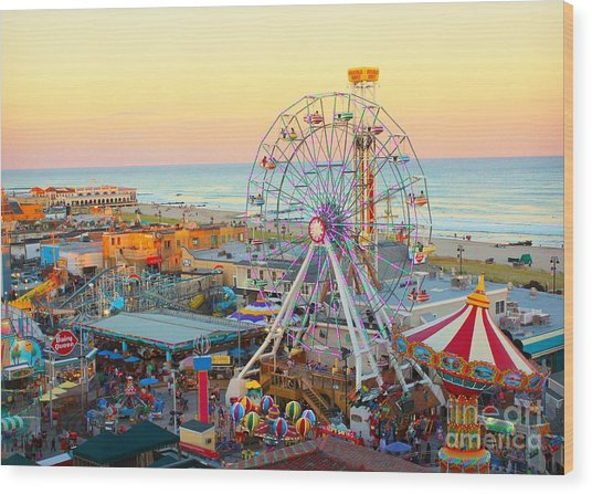 Ocean City New Jersey Boardwalk Wood Print