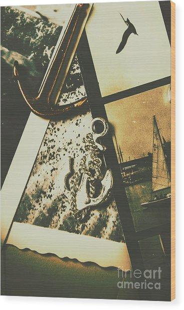 Ocean Cruise Nostalgia Wood Print