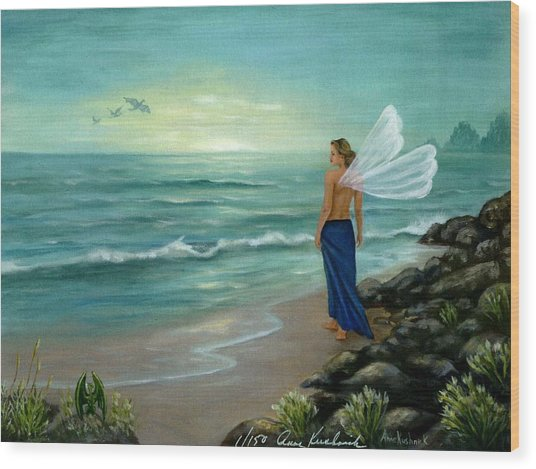 Ocean Fairy Wood Print