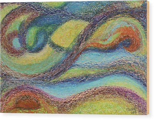 Ocean Flow Wood Print