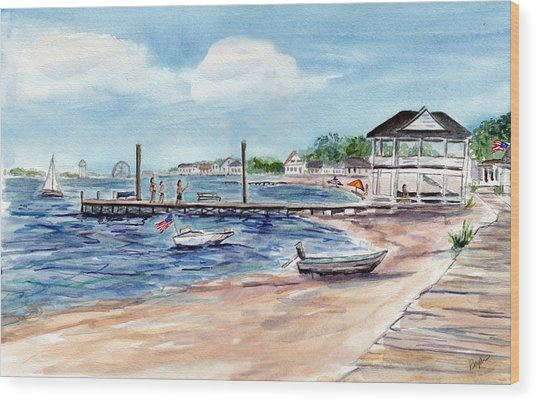 Ocean Gate Boardwalk Wood Print