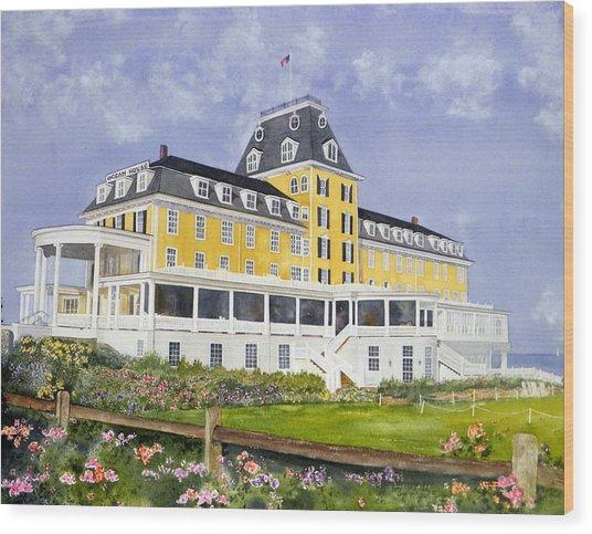 Ocean House Wood Print by Lizbeth McGee