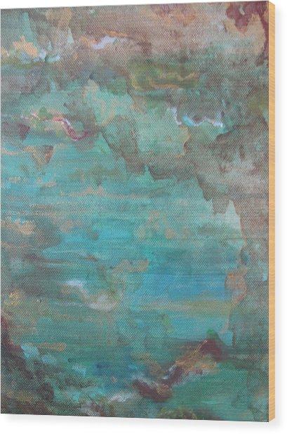 Ocean Wood Print by Lindie Racz