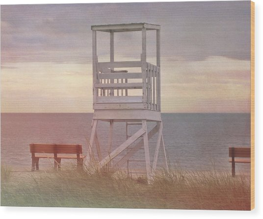 Ocean Lookout Wood Print by JAMART Photography
