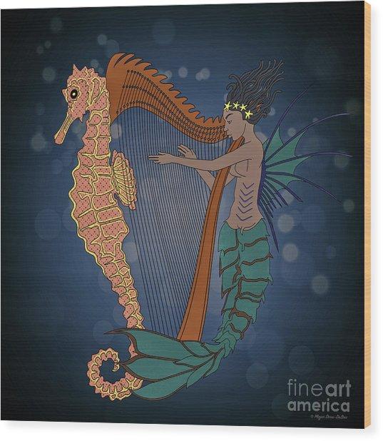 Ocean Lullaby1 Wood Print