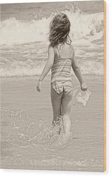 Ocean Moment Wood Print by JAMART Photography