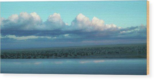 Ocean Of Sky Wood Print