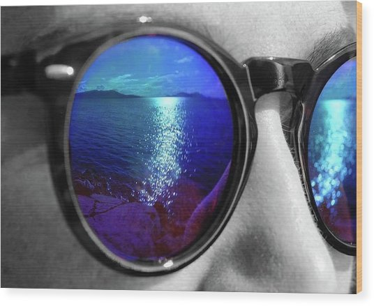 Ocean Reflection Wood Print
